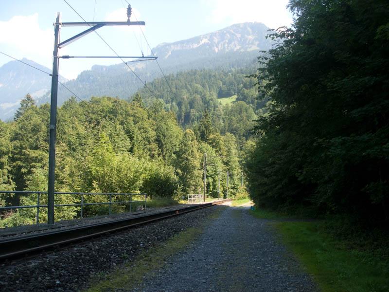 Bahnstrecke auf dem Brünigpass
